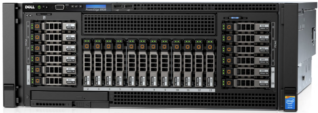 MÁY CHỦ SERVER DELL POWEREDGE R920 E7-2850 v2 Processor 2.3GHz