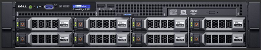 DELL PowerEdge R530 E5-2609 v4 1.7GHz 8C, 8GB, 1TB (8x3.5)