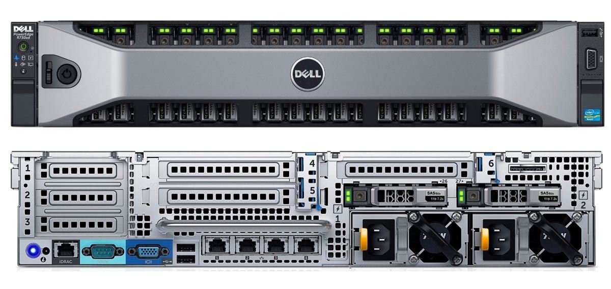 MÁY CHỦ SERVER DELL POWEREDGE R730 2.5 E5-2609 v3